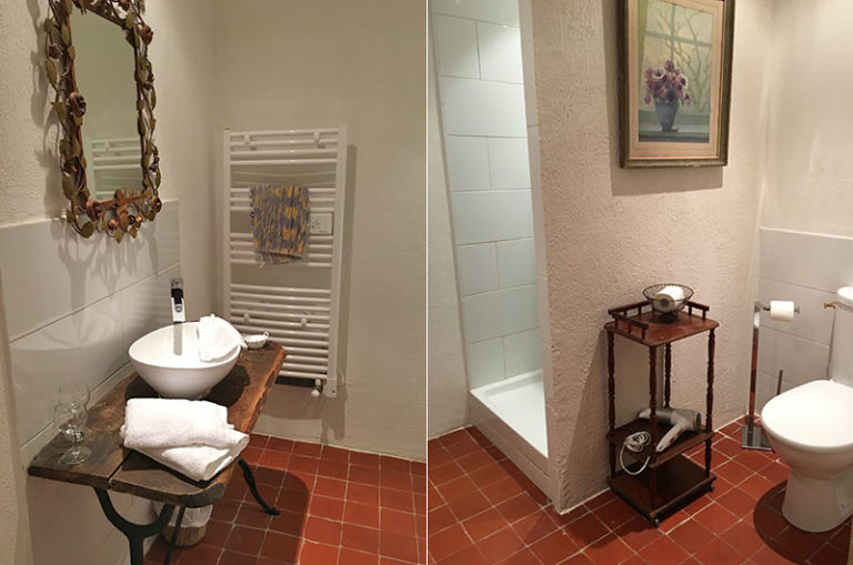 Chambre Cézanne : salle de douche