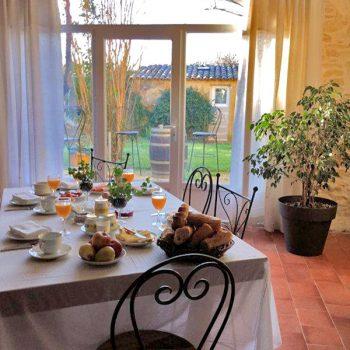 chambre d'hôte, petit déjeuner, séjour, week-end, vacances, Piolenc, Provence, Avignon